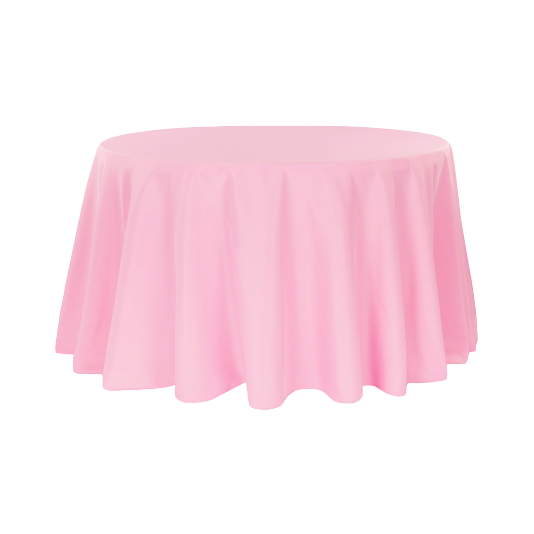 120u2033 Pink Polyester Round Tablecloth