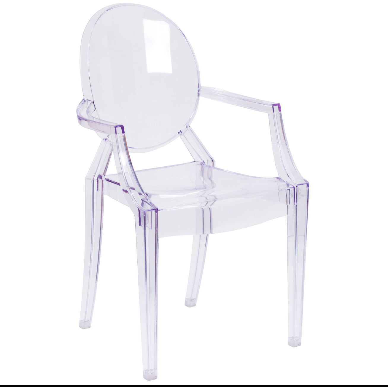 Ghost Crystal Chair With Arms